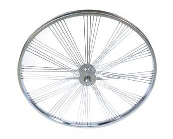 Bike | Bicycle 26″ Fan 72 Spoke Coaster Wheel 80g Chrome