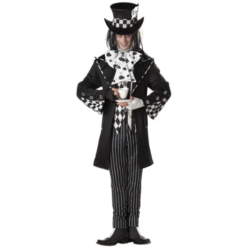 Dark Mad Hatter Costume - X-Large - Chest Size 44-46