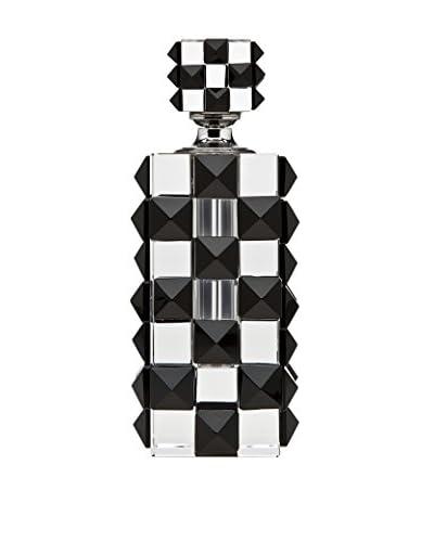 Godinger Checkered Perfume Bottle, Black/Clear
