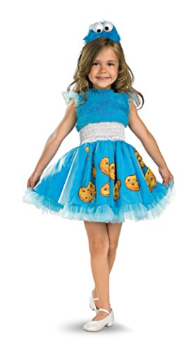 Girls Cookie Monster Frilly Kids Child Fancy Dress Party Halloween Costume