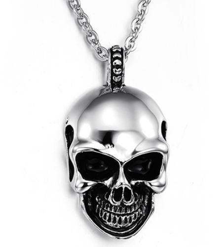 Men's Stainless Steel Pendant Necklace New Gift Item 'Skull' Pendant Necklace