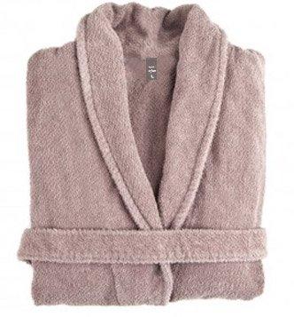 Beige cream cotton bathrobes in S/M