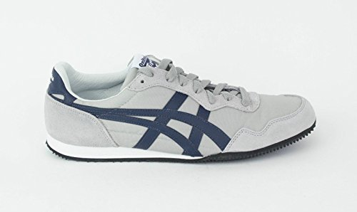 Onitsuka Tiger Serrano Fashion Sneaker,Grey/Navy,5.5 M US Women's/4 M US Men's