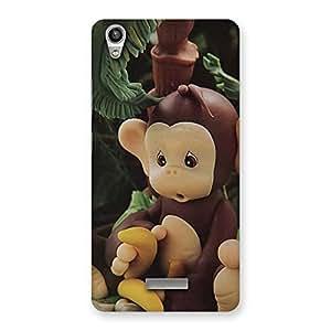 Enticing Toy Monkey Multicolor Back Case Cover for Lava-Pixel-V1