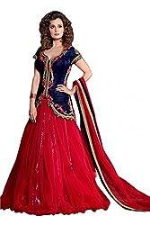 Khazanakart Red Net Designer Lehenga Choli For Women