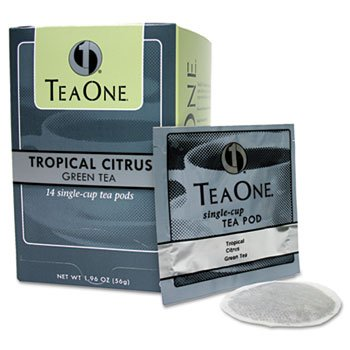 6 Pack Tea Pods, Tropical Citrus Green, 14/Box By Java (Catalog Category: Office Maintenance, Janitorial & Lunchroom / Food & Beverage)