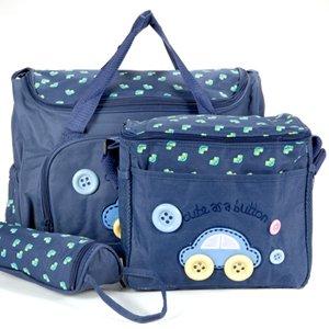 Set 4 kits Bolso/Bolsa/Bolsillo Maternal azul oscuro biberón carrito carro en Bebe Hogar