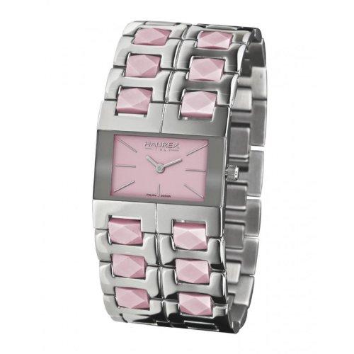 Haurex Italy XA327DP1 - Reloj de mujer de cuarzo, correa de acero inoxidable color plata