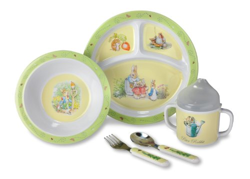 Kids Preferred Melamine Feeding Set, The World of Beatrix Potter (Discontinued by Manufacturer)