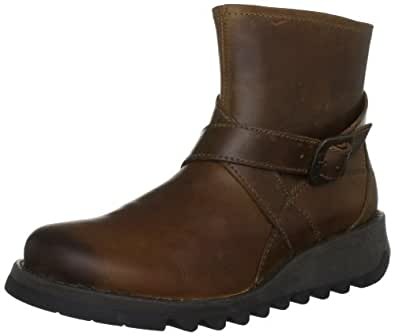 Fly London Women's Sake Camel Wedges Boots P142418005 4 UK