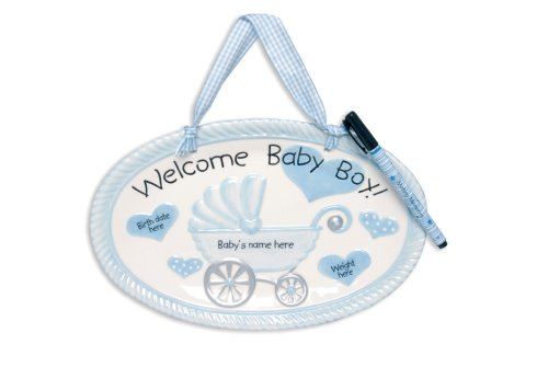 Mud Pie Baby Little Prince Welcome Boy Plaque with Pen