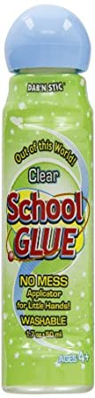 Crafty Dab Dab N Stic School Glue - 50 Milliliter Bottle - Pack of 6