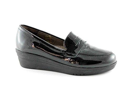 GRUNLAND VATI SC2361 nero scarpe donna zeppetta mocassino 39