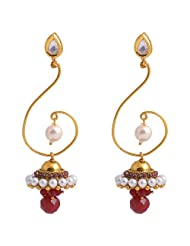 Jewel Mart Antique Earing Red For Women JME021