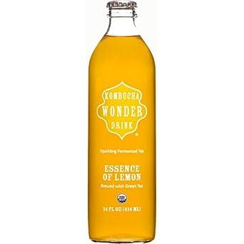 Kombucha Wonder Drink - Organic Essence of Lemon, 14 Ounce -- 12 per case.