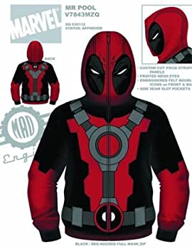 Deadpool Marvel Comics - Mr. Pool Costume Zip Hoodie (X-Large)
