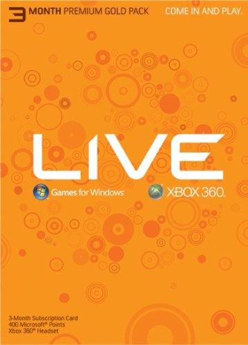 Xbox 360 Live 3 Month Gold Kit Subscription