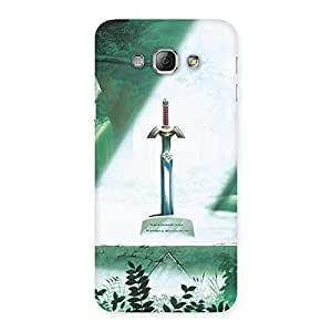 Delighted Sword Grave Multicolor Back Case Cover for Galaxy A8