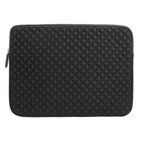 Evecase 13.3'' ~ 14'' Chromebook/ Ultrabook Notebook Pc Diamond Foam Splash & Shock Resistant Neoprene Sleeve Case Travel Bag, Black