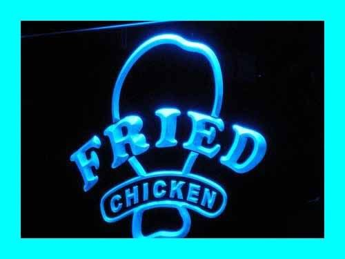 Adv Pro I193-B Open Fried Chicken Fast Food Shop New Light Sign
