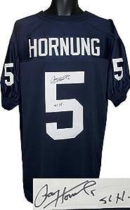 Paul Hornung signed Notre Dame Fighting Irish Navy Custom TB Jersey 56 H (Heisman)
