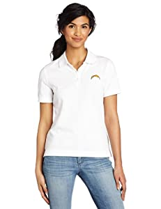 NFL San Diego Chargers Ladies Ace Polo, White by Cutter & Buck