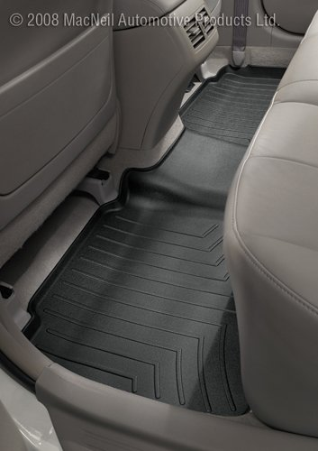 Weathertech Custom Fit Rear Floorliner For Audi Q7 (Black)