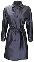 Attuendo Women's Limited Edition Double Breasted Silk Trench Coat (Large)