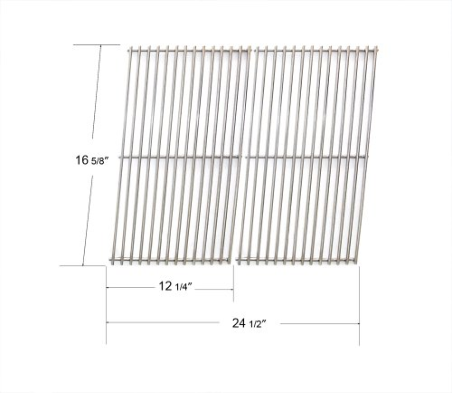 52932 - Centro, Charbroil, Front Avenue, Fiesta, Kenmore, Kirkland, Kmart, Master Chef, And Thermos Gas Grill Stainless Steel Cooking Grid/Cooking Grates front-253369