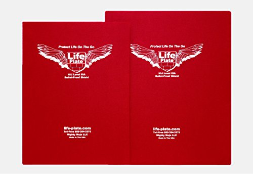 "Lifeplate Bulletproof Backpack Insert NIJ IIIa Compliant ""Book Bag Armor"" (Red 12""x15"")"