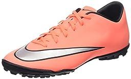 Nike Men\'s Mercurial Victory V Tf Brght Mng/Mtllc Slvr/Hypr Trq Turf Soccer Shoe 10 Men US