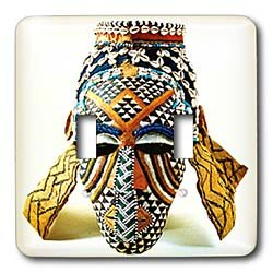 African Art - African Mask - Light Switch Covers - double toggle switch