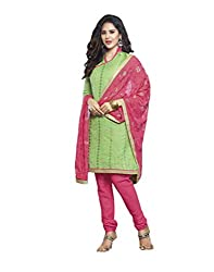 Bhagwati Women's Georgette Embroidered Unstitched Dress Material (saheli5_Green_Freesize)