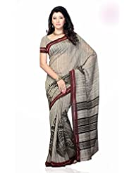 Shariyar Grey Art Silk Printed Saree PRG346