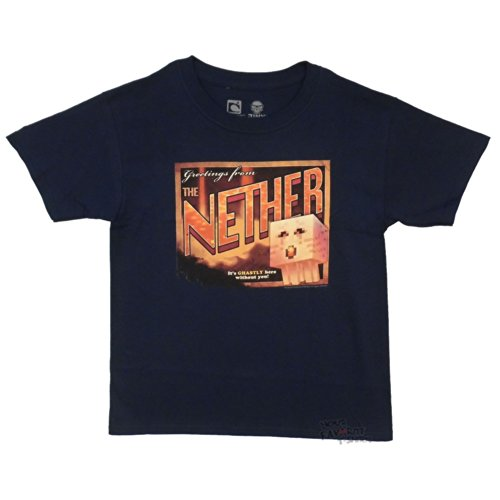 Minecraft-diseo-de-postal-con-Youth-Nether-camiseta-para-hombre