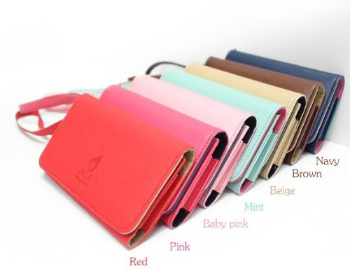 Fashion Card Wallet Leather Purse Case Cover for Samsung Galaxy S2 S3 Iphone 4s / 5