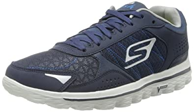 Skechers Men's Go Walk 2-Flash Walking Shoe,Navy/Grey,7 M US
