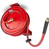 TEKTON 46848 50-Foot x 1/2-Inch I.D. Auto Rewind Air Hose Reel (250 PSI)