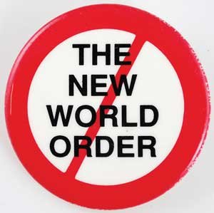 The New World Order (W/red Slash) pin