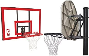 Spalding NBA BackboardRim Combo - 44quot Polycarbonate Backboard with Spalding Universal Mounting Br