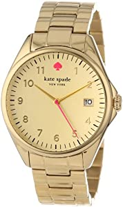 """kate spade new york Women's 1YRU0030 """"Seaport"""" Gold-Plated Stainless Steel Watch"""
