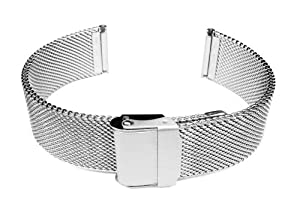 18mm Stainless Steel Wire Mesh Bracelet Watch Band Strap