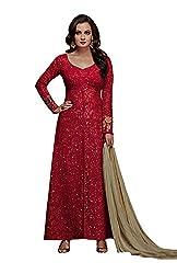 Monika Silk Mill Presents Red Designer Dress Material