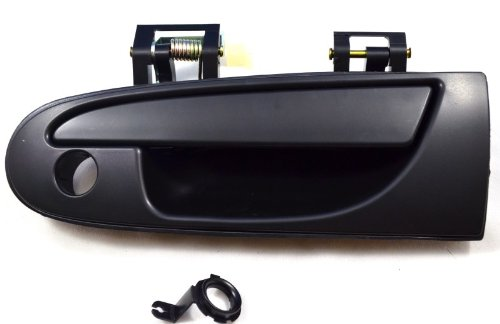 PT Auto Warehouse MI-3603S-FL - Outside Exterior Outer Door Handle, Smooth Black - Driver Side (1995 Eagle Talon Door Handle compare prices)