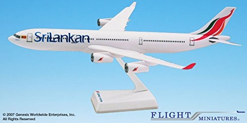 Flight Miniatures SriLankan Airlines 1999 Airbus A340-300 1:200 Scale Display Model (Airbus A340 Model compare prices)