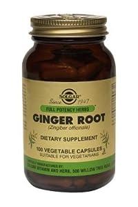 Solgar FP Ginger Root Vegetable Capsules - 100 Vegicaps by 5