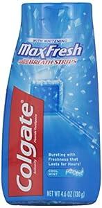 Colgate Max Fresh Liquid Toothpaste with Mini Breath Strips, Cool Mint, 4.6 oz