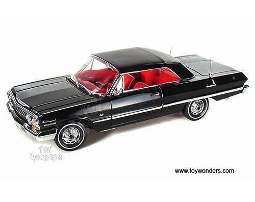 19865hbk-welly-chevrolet-impala-hard-top-1963-118-black-19865h-diecast-car-model-auto-vehicle-die-ca