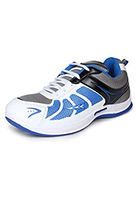 Columbus Men White Black Blue Sports Shoes