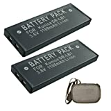 ValuePack (2 Count): Extended Life Replacement Battery for Specific Digital Camera and Camcorder Models Compatible with Konica DR-LB1 - Revio KD-300Z - KYOCERA Finecam S3 - S3L - S5R - SHARP MD: MS301 - MS701 - MS702 - MS722 - MT66 - MT821 - MT831 - TOSHIBA PDR: 3010 - 3310 - YASHICA Finecam S3 - S3L - S3R - S3X - S4 - S5 - KYOCERA BP-1000S - BP-800S - BP-900S - SHARP AD: S30BT - S31BT - S31BTX - T50BT - T51BT - TOSHIBA PDR-BT9 - YASHICA BP-1000S - BP-800S - BP-900S - Includes Hard Case Camera Bag